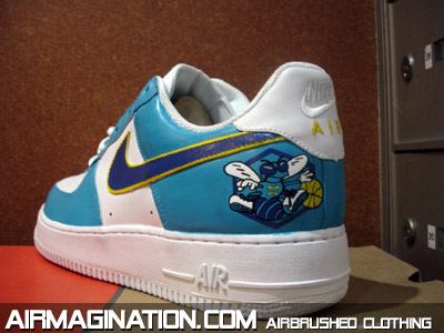 Airbrush New Orleans Hornets Shoes